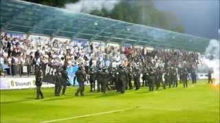 mfk košice fan knocked out by hooligan from bratislava 01 05 2014 hd