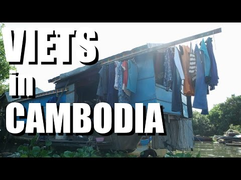 Vietnamese Life in Cambodia. Tonle Sap's Floating Village. A documentary