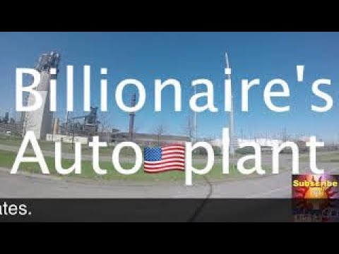 Multi-Billionaire Ford Mega-auto Plant+Historical River Rouge, Dearborn, Michigan, USA