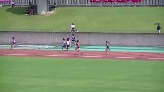2013静岡中部中学新人共通女子4×100R予選4組 山本千夏 動画 30