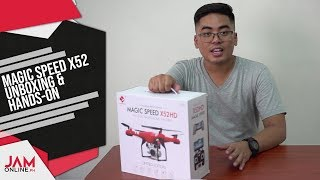 Magic Speed X52 Drone Unboxing and Hands-On