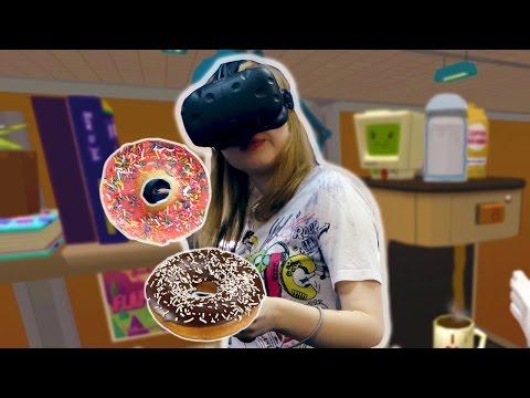 Job Simulator / HTC VIVE [СЪЕЛА ВСЕ ПОНЧИКИ!]