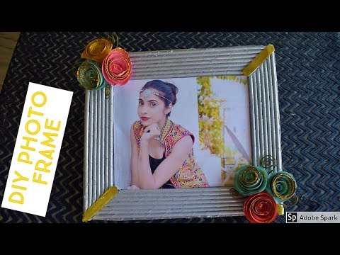 How to make Newspaper  Photo Frame   Best out of waste   parul pawar