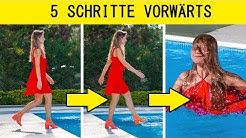 5-SCHRITTE-VORWÄRTS-CHALLENGE! || Lustige Streiche und seltsame Situationen mit 123 GO! CHALLENGE