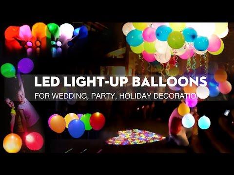 10pcs LED Light-up Balloons Luminous Balloon for Party Decor