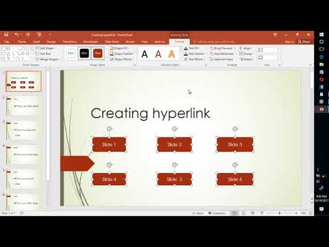 Creating hyperlink in Ms PowerPoint 2016