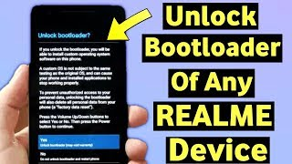 Tutorial UBL (Unlock Bootloader) Realme 2 RMX1805 - 100% work.