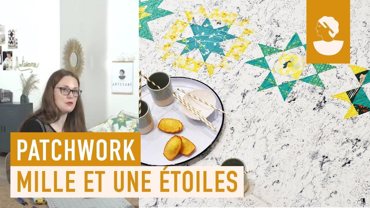 apprendre le patchwork en ligne et les blocs d 39 toiles youtube. Black Bedroom Furniture Sets. Home Design Ideas