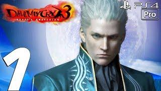 Devil May Cry 3 HD - Vergil Walkthrough Part 1 - Prologue (Remaster) PS4 PRO