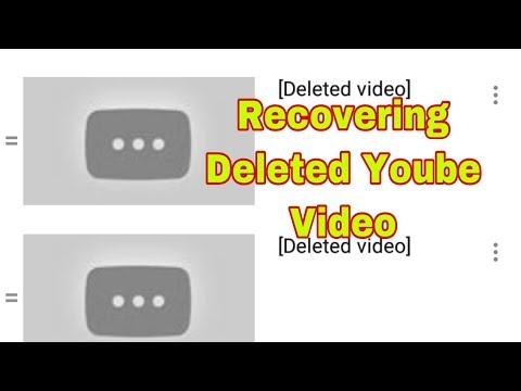 How To Recover Deleted Youtube Videos In Your Youtube Channel  2020 / Easy ,quick And Proven