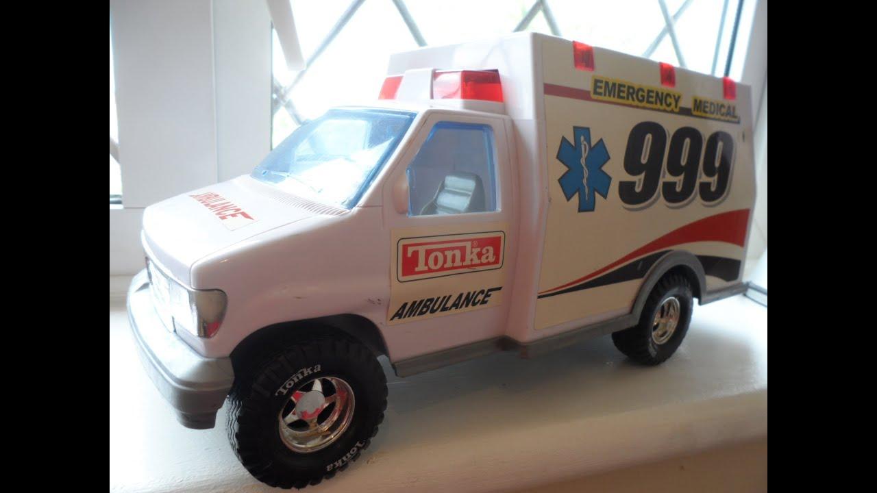 Tonka Toy Trucks >> AMAZING TONKA TOYS 2002 BEST AMBULANCE SOS RESCUE VAN - YouTube