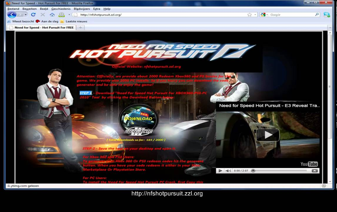 Need For Speed Hot Pursuit Game Download Youtube