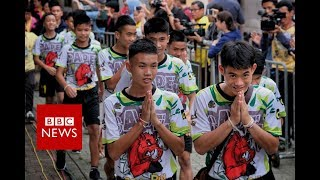 Full News Conference: Thai cave rescue boys relive 'moment of miracle' - BBC News