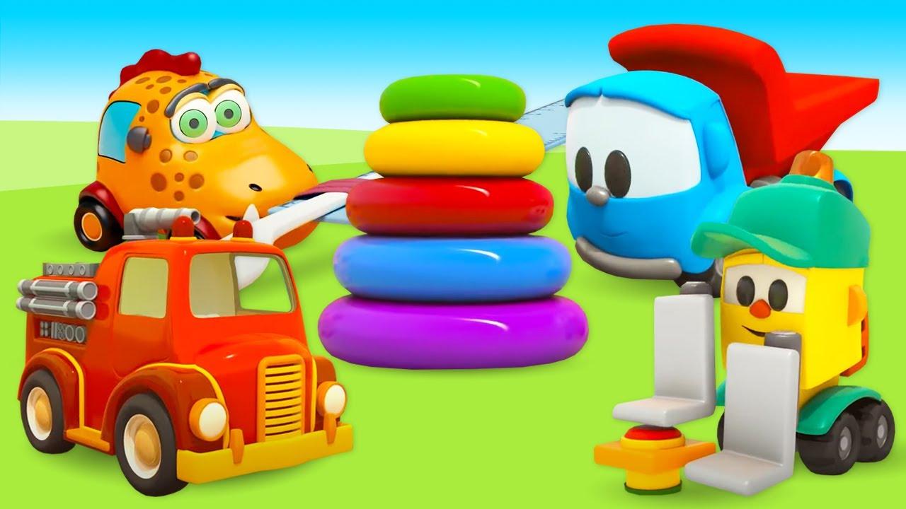 Мультики про машинки для детей - Большой сборник мультфильмов. Грузовичок Лева и другие машинки