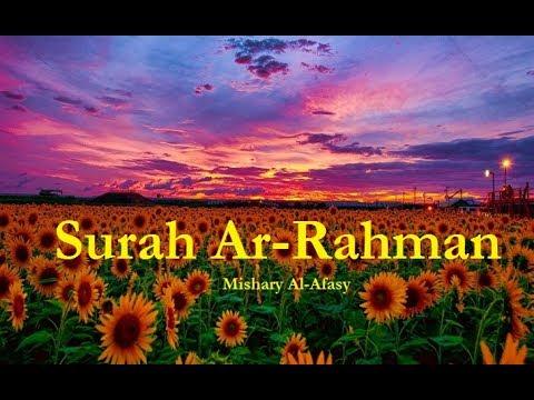 Sura Rahman - Mishary Rashid Al-Afasy - سورة الرحمن - مشاري العفاسي (bosanski prijevod) [Prelijepo]