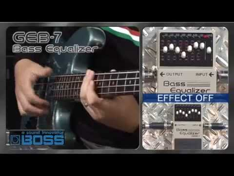 boss geb 7 bass graphic eq pedal pmt youtube. Black Bedroom Furniture Sets. Home Design Ideas