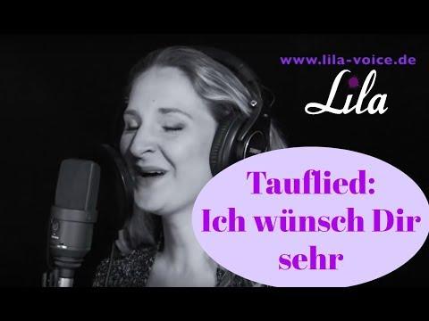 Wunderschönes Tauflied: Ich wünsch dir sehr - live eingesungen von Sängerin Lila