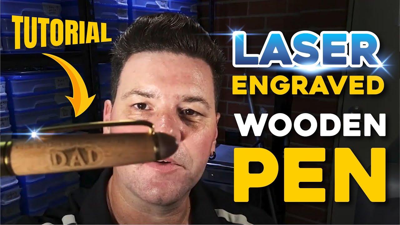 Laser Engraving Wood Pens in Corel Draw | Laser Engraver Tutorial