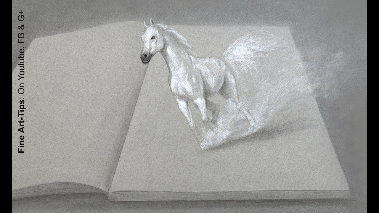 How To Draw A Horse In 3d  Drawing With Imagination