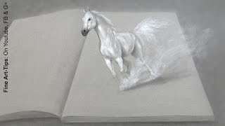 How to Draw a Horse in 3D - Drawing With Imagination