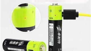Революция батареек! Литий-ионные аккумуляторные батарейки на 1.5v стандарта АА. Тест ёмкости.(, 2016-05-04T16:21:04.000Z)