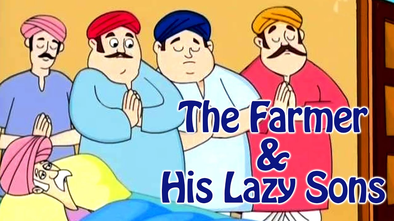 The farmer And His Lazy Sons | Grandpa Stories | English Moral Stories For  Kids