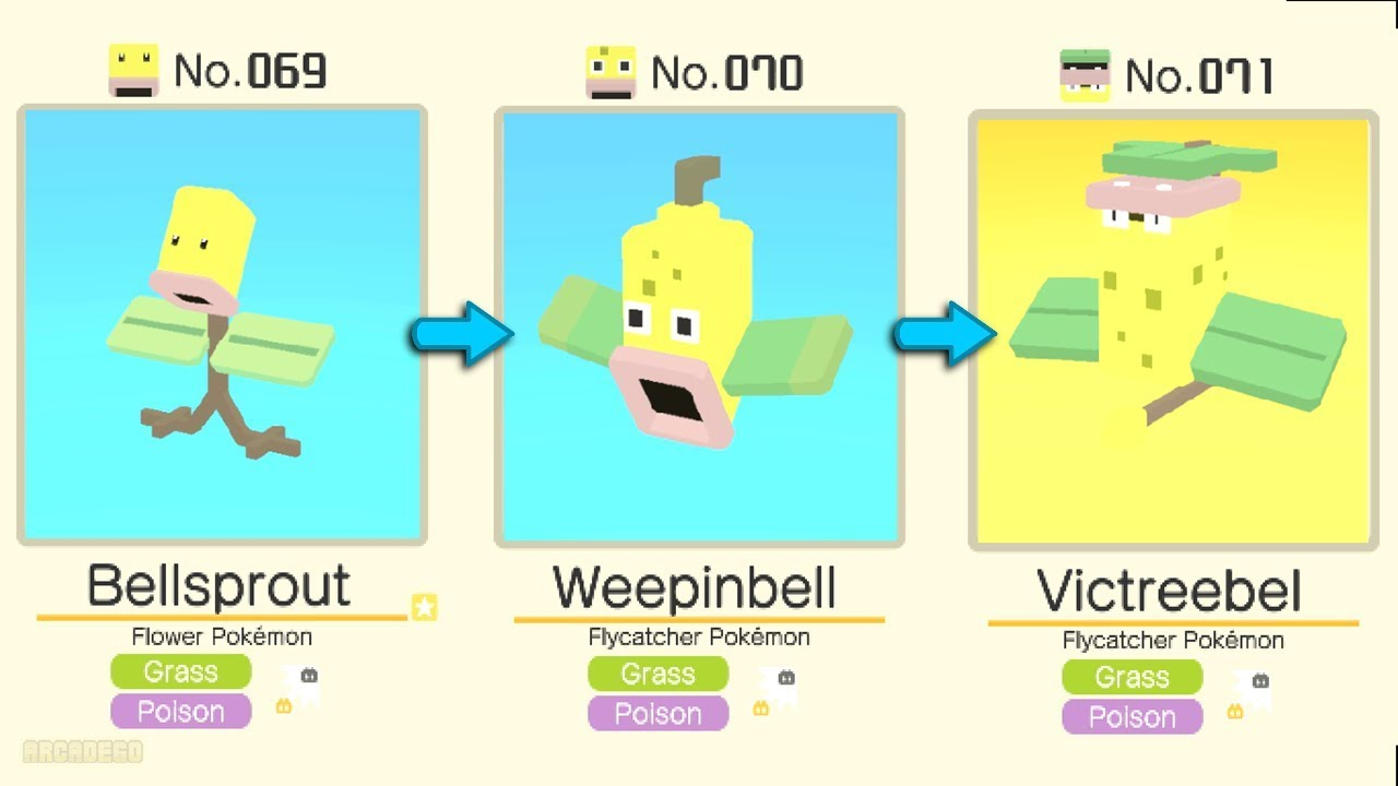 Pokémon Quest: Bellsprout Evolved Into Weepinbell ...