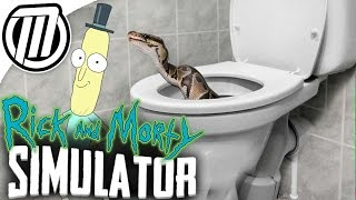 Rick and Morty Simulator : Cleaning Toilets & MAKING PLUMBUS : Virtual Rick-ality (VIVE VR)
