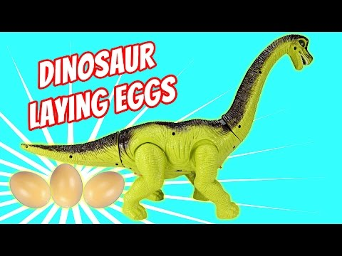 Thumbnail: Dinosaur Walking and Laying Eggs Toy - Dinosaurs Toys For Kids