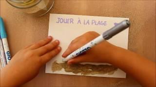 DIY: CARTES  POSTALES AU SABLE