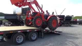 PJ Gooseneck Hydraulic Dovetail Trailer In Action * DR Trailer Sales