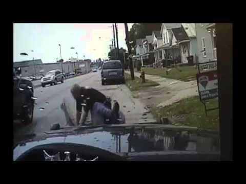 Good Samaritans help Ohio cop under attack