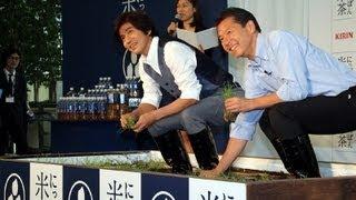 佐藤浩市さんが5月22日、東京都内で行われた「キリン にっぽん米茶」のC...