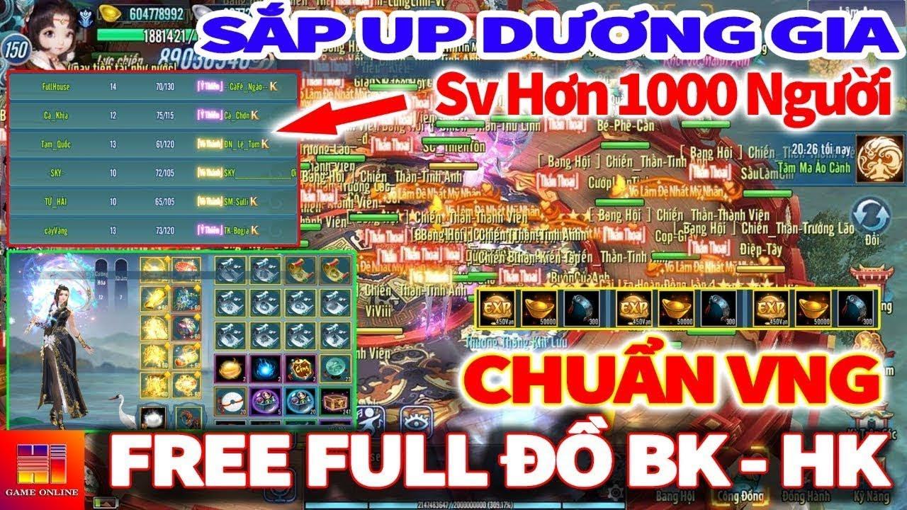 VLTK Mobile Lậu : Sever Hơn 1000Người, Free Full Đồ HK+BK, Chuẩn VNG Ko Mod | Game Private