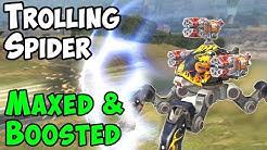 Mk2 Max & All Boosters Vortex Fujin Trolling Spider Gameplay - War Robots WR