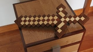 How to make a Minecraft Sword in Real Wood Life? Minecraft Toys to Kids