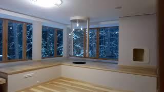 Обзор спальни с ванной комнатой # в котедже