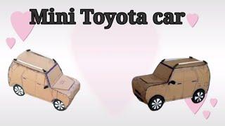 Mini Toyota car /cardboard cre…