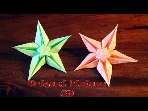 Tutorial origami bintang 3d step by step