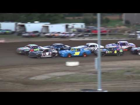IMCA Stock Car Heat 4 Independence Motor Speedway 9/22/18