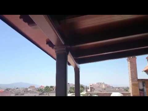 Pergola de aluminio imitacion madera pergolum pergolas de - Pergolas de madera valencia ...