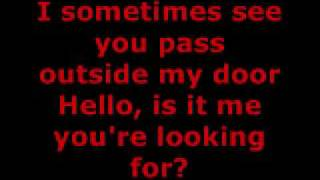 LIONEL RICHIE - HELLO LYRICS thumbnail