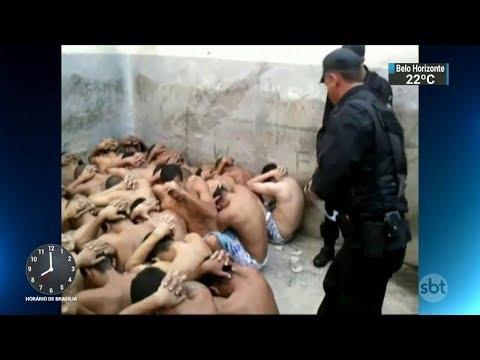 Imagens flagram agentes torturando detentos em presídio de Goiás | SBT Brasil (29/11/17)