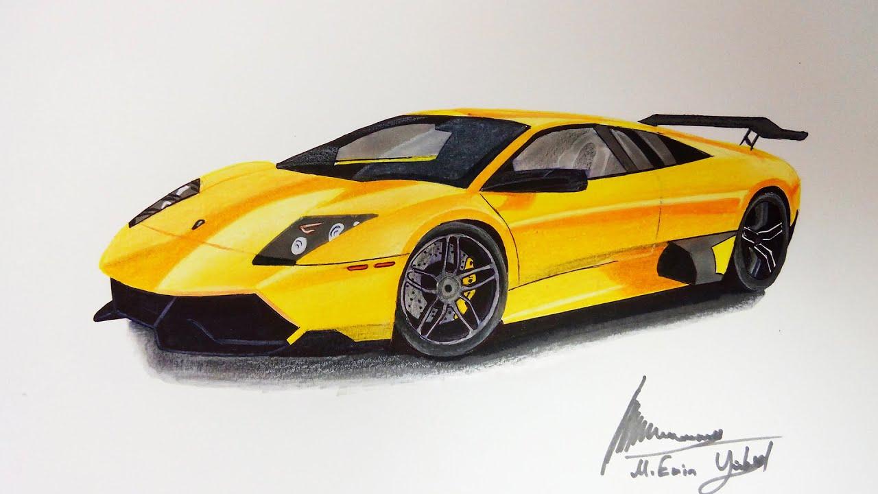 Lamborghini Murcielago Cizimi Car Drawing Youtube