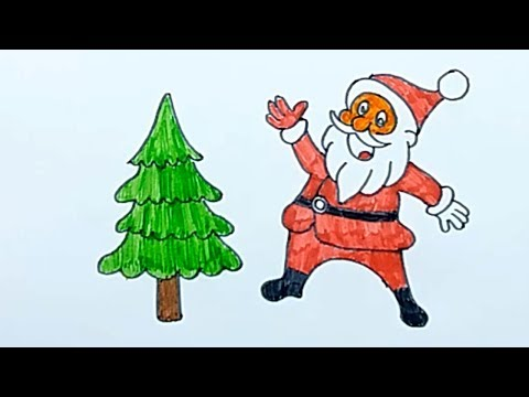 How to draw Santa Claus   Drawing for Kids   Smart Bapy
