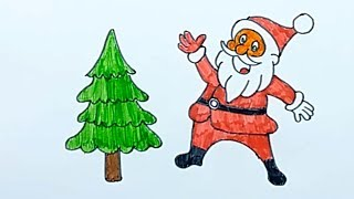 How to draw Santa Claus   Drawing for Kids | Smart Bapy