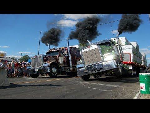Драг рейсинг на грузовиках  Trucks Drag Racing - Видео онлайн