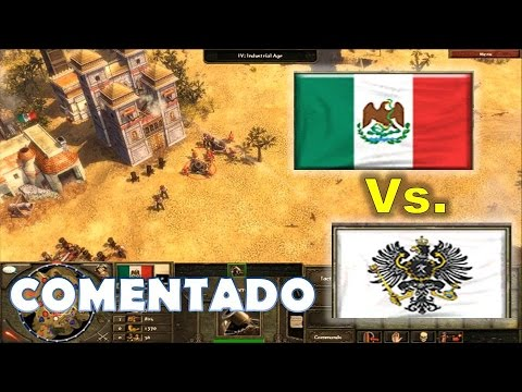 México vs Alemania - Age of Empires 3 War of the Triple Alliance