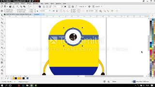 tutorial how o make minion with coreldraw 2017