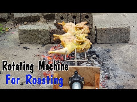 How To Make A Simple Rotating Machine For Roasting